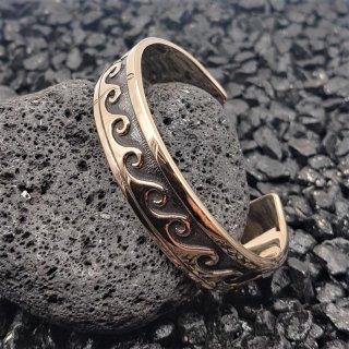 """""""Matunus"""" keltischer Bronzearmreifen mit Wellenmuster"""