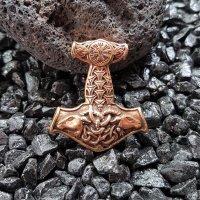 "Massiver Bronze Thors Hammer Anhänger ""Thors..."