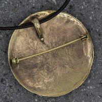 Keltische Fibel 3 Pferde aus Bronze