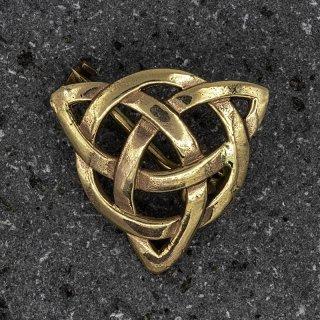 """Triquetra Brosche """"BONNA"""" aus Bronze"""