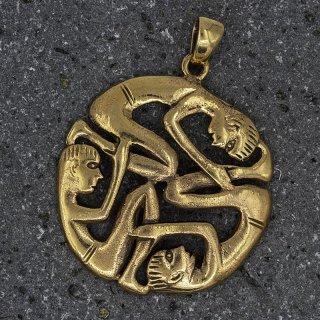 Menschlicher keltischer Knoten Schmuckanhänger aus Bronze