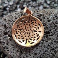 "Keltischer Knoten Schmuckanhänger ""Bitur"" aus Bronze"
