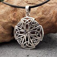 Trinity Knoten im Keltischen Kreuz Amulett aus 925...