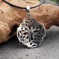 Trinity Knoten im Keltischen Kreuz Amulett aus 925 Sterling Silber