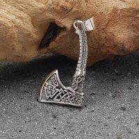 Valknut Axt mit keltischen Knoten aus 925 Sterling Silber