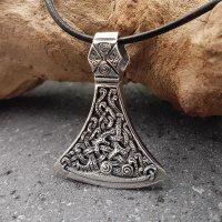 Mammenaxt mit der Midgardschlange aus 925 Sterling Silber
