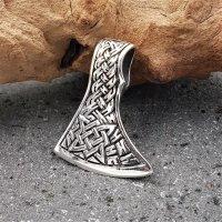 Mammenaxt Anhänger verziert mit Keltische Knoten aus 925 Silber