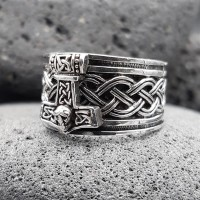 Wikinger Ring mit Thorshammer ASMUND aus 925 Sterling...