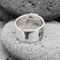 """Wikinger Ring mit Thorshammer """"ASMUND"""" aus 925 Sterling Silber 64 (20,4) / 10,7 US"""