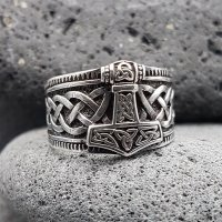 Wikinger Ring mit Thorshammer ERLING aus 925 Sterling...