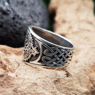 Helm of Awe Ring KETILL aus 925 Sterling Silber