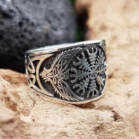 "Helm of Awe Ring ""KETILL"" aus 925 Sterling Silber 56 (17,8) / 7,6 US"