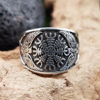 "Helm of Awe Ring ""KETILL"" aus 925 Sterling Silber 58 (18,5) / 8,4 US"