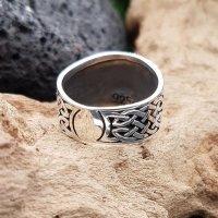 "Helm of Awe Ring ""KETILL"" aus 925 Sterling Silber 68 (21,6) / 12,1 US"