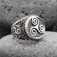 """Wikinger Triskelen Ring """"BRYNJAR"""" aus 925 Sterling Silber"""