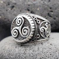 "Wikinger Triskelen Ring ""BRYNJAR"" aus 925 Sterling Silber 56 (17,8) / 7,6 US"