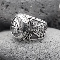 "Wotanknoten Ring ""CALDER"" aus 925 Sterling Silber 56 (17,8) / 7,6 US"
