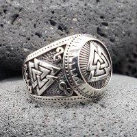 "Wotanknoten Ring ""CALDER"" aus 925 Sterling Silber 64 (20,4) / 10,7 US"