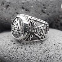 "Wotanknoten Ring ""CALDER"" aus 925 Sterling Silber 67 (21,3) / 11,8 US"