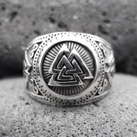 "Wotanknoten Ring ""CALDER"" aus 925 Sterling Silber 72 (23,0) / 13,9 US"