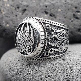 "Bärenklaue Ring ""EERIKKI"" aus 925 Sterling Silber 59 (18,8) / 8,7 US"