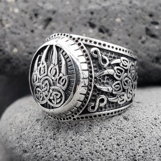 "Bärenklaue Ring ""EERIKKI"" aus 925 Sterling Silber 67 (21,3) / 11,8 US"