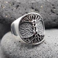 """Weltenbaum Ring """"PAAR"""" aus 925 Sterling Silber"""