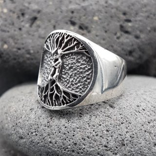 """Weltenbaum Ring """"PAAR"""" aus 925 Sterling Silber 60 (19,1) / 9,1 US"""