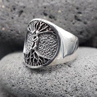 """Weltenbaum Ring """"PAAR"""" aus 925 Sterling Silber 70 (22,3) / 12,9 US"""