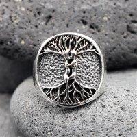 """Weltenbaum Ring """"PAAR"""" aus 925 Sterling Silber 72 (23,0) / 13,9 US"""