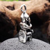 """Thor auf seinem Thron """"THUNAR"""" Schmuckanhänger aus 925 Sterling Silber"""