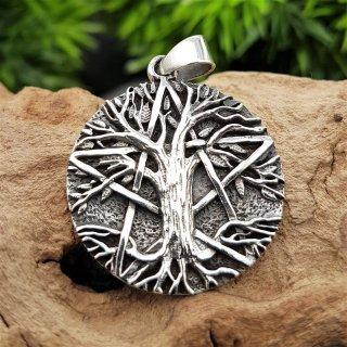 """Yggdrasil Schmuck Anhänger """"WILBURG"""" mit Pentagramm aus 925 Sterling Silber"""