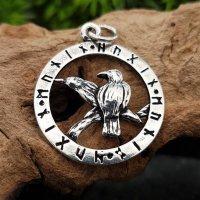 Odins Raben im Runenkreis Anhänger...