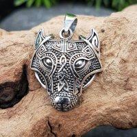 Fenriswolf Schmuckanhänger aus 925er Sterling Silber