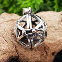 """Pentagramm Schmuck Anhänger """"MURIEL"""" zum öffnen aus 925 sterling Silber"""