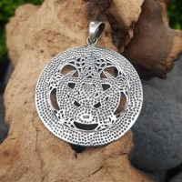 """""""Charge of the Goddess"""" Mond Amulett aus 925 Sterling Silber"""