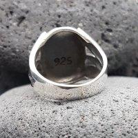 Anker Ring mit nordischen Runen aus 925 Sterling Silber 70 (22,3) / 12,9 US