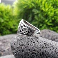 Yggdrasil Ring mit keltische Knoten aus 925 Sterling Silber 58 (18,5) / 8,4 US