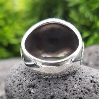 Yggdrasil Ring mit keltische Knoten aus 925 Sterling Silber 68 (21,6) / 12,1 US