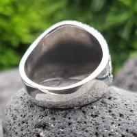 """""""Helm of Awe"""" Ring verziert mit keltische Knoten aus 925 Sterling Silber 54 (17,2) / 6,8 US"""