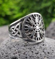 """""""Helm of Awe"""" Ring verziert mit keltische Knoten aus 925 Sterling Silber 62 (19,7) / 9,9 US"""