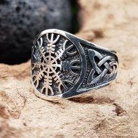 """""""Helm of Awe"""" Ring verziert mit keltische Knoten aus 925 Sterling Silber 70 (22,3) / 12,9 US"""