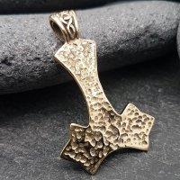 """Mjölnir Schmuck Anhänger """"Njáll"""" aus Bronze mit Türkis Steine"""