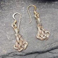 """Keltische Knoten Ohrhänger """"Støv"""" aus Bronze"""