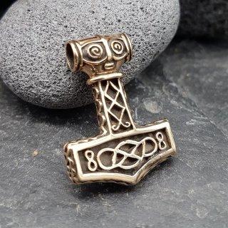 """Thors Hammer """"ULMANNE"""" Schmuck Anhänger aus Bronze"""
