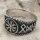 Helm of Awe Ring mit nordischen Runen aus 925 Sterling Silber 67 (21,3) / 11,8 US