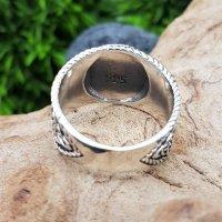 Vegvisir Ring mit nordischen Runen aus 925 Sterling Silber 54 (17,2) / 6,8 US