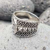 "Helm of Awe Ring ""AEGIS"" aus 925 Sterling Silber 70 (22,3) / 12,9 US"