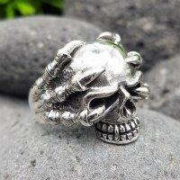 "Totenkopfring ""HELHEIM"" aus 925 Sterling Silber 56 (17,8) / 7,6 US"