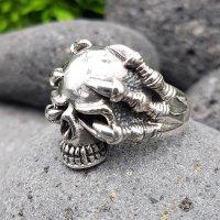 "Totenkopfring ""HELHEIM"" aus 925 Sterling Silber 66 (21,0) / 11,4 US"